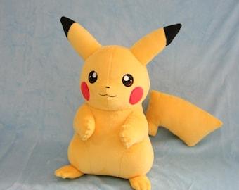Pokemon Inspired Pikachu Fan Plush - IN STOCK