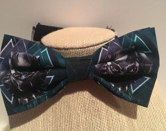 Marvel black panther bow tie, comic book bow tie, T'Challa, movie bow ties , gifts for him.