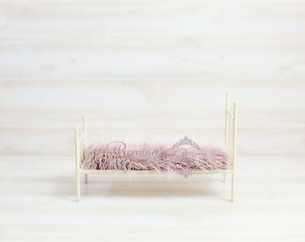 Newborn DIGITAL Prop/ Newborn Bed Prop/ Digital Download Prop/Photography/Cream/Pink Bed/Newborn Bed Prop/ Wrought iron Bed prop Digital