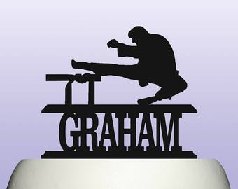 Personalised Acrylic Karate Martial Arts Birthday Keepsake Cake Topper Decoration
