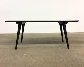 "Paul McCobb | Planner Group 36"" Table + Bench | Mid Century black"