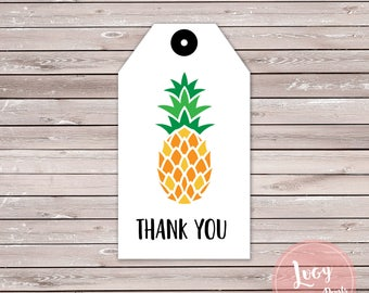 Pineapple Thank You Tag - Instant Download