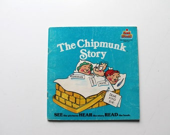 Alvin and The Chipmunks The Chipmunk Story Read Along Book 1984
