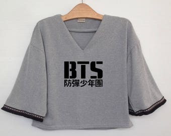 BTS Bangtan Boys K pop korea Crop shirt