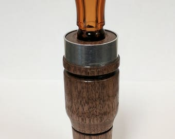 Hand Turned Walnut Duck Call - Double Reed