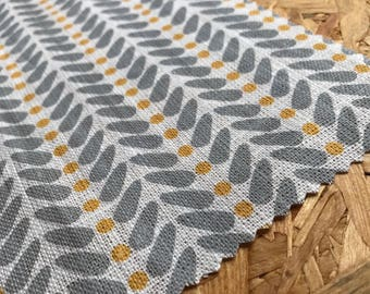 Yellow and Grey Fabric- Curtain Fabric- Scandinavian Fabric- Upholstery Fabric- Curtain Fabric- Modern Fabric- Linen- Fabric By The Metre