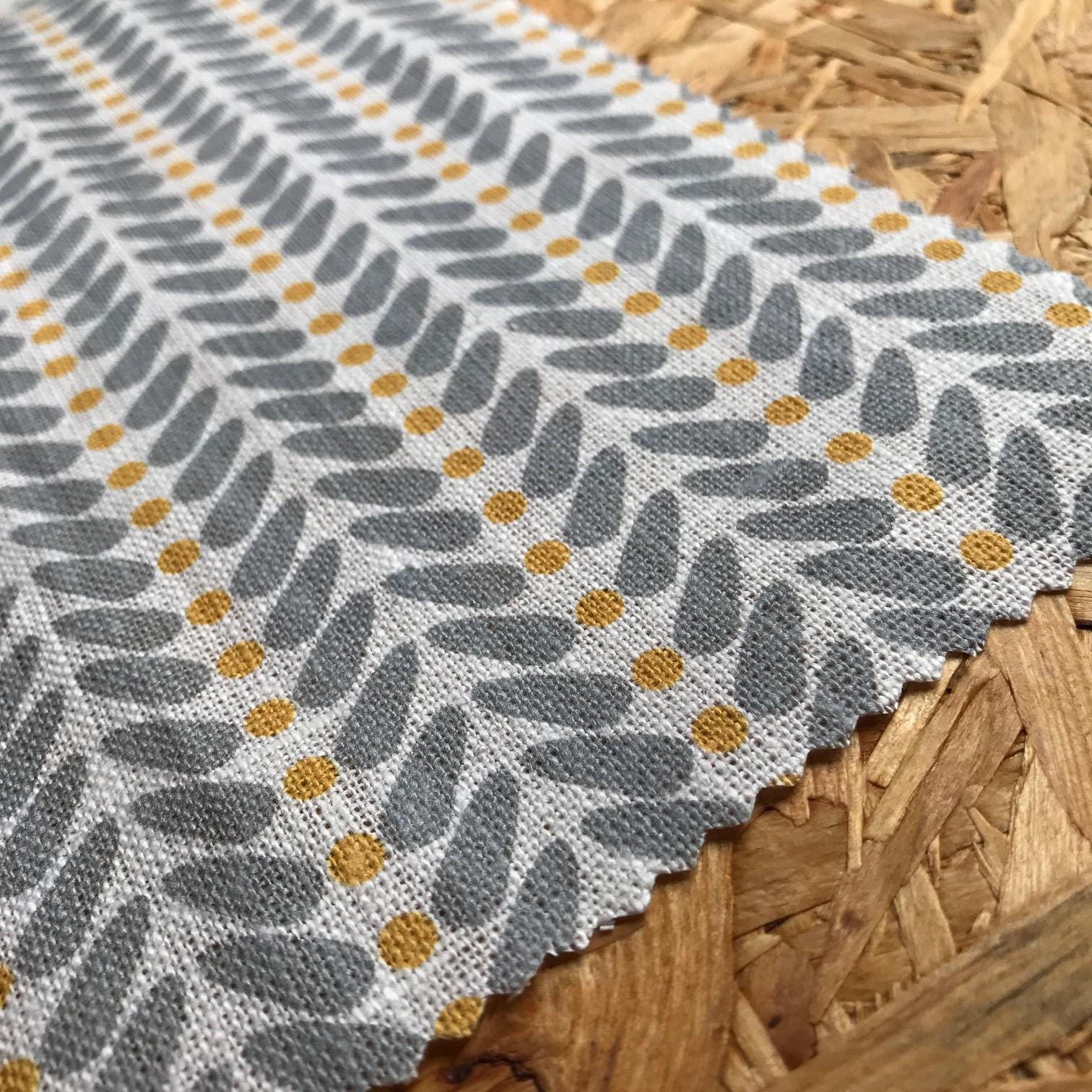 yellow and grey fabric curtain fabric scandinavian fabric. Black Bedroom Furniture Sets. Home Design Ideas