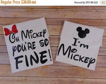 ON SALE Oh Mickey you're so fine shirt -  I am mickey  shirt - Couple shirts - Disney couple - Disney vacation - Disney couple shirts