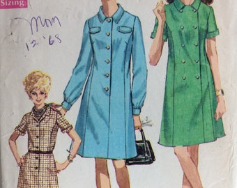 Simplicity 7879 misses half size step-in dress size 20 1/2  bust 43 vintage 1960's sewing pattern