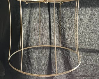 Wire lampshade frame etsy 35 off sale vintage drum shade wire frame farmhouse industrial chic craft supply display greentooth