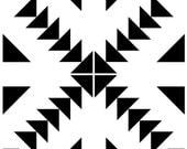 Custom Floor Tile Sticker Zig Zag Black