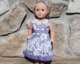 Doll dress, doll clothes, 18 inch doll clothes