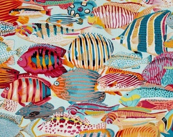 "Natural World Exotic Fish Tropical Valance Curtain 42"" W x 13"" L"
