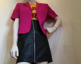 Vintage Hot pink Bolero! 1980s barbie jacket. Size 10