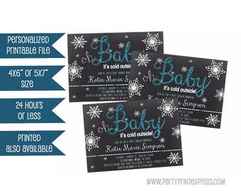 Printed Heaven Sent Baby Shower Invitations Blue and Silver