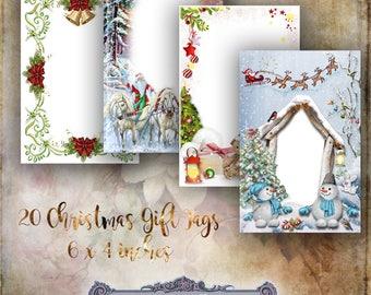 20 Christmas Gift Tags of Frames