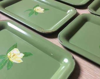 Set of 8 Vintage snack trays.