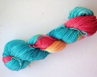 They Got the Mustard Out, 4ply 100g hand-dyed yarn, 50/50% Merino / Tencel , 333metres