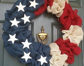 Fourth of July Patriotic Wreath