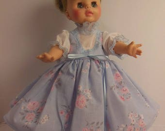 "Blue floral Jumper Type Dress Set for 15"" Horsman Ruthie Dolls"
