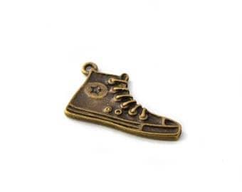 Shoe charm, basketball color bronze