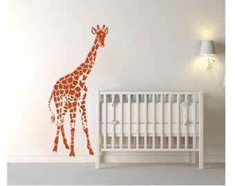 wall decal Giraffe decal, Giraffe Silhouette, Safari decal, Nursery decal,Giraffe Wall Decal