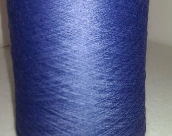 1 spool 0,5 kgs wool merino color Sapphire blue nm 33/2  hand knitting yarn on a cone