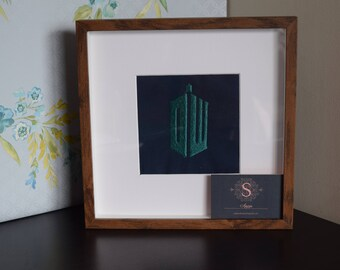 Dr Who framed embroidery design.