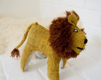 Mexican Handmade Wool Lion Doll