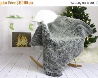 ON SALE Winter Collection | Scandinavian Sheepskin Rug | Cristmas Decor | Christmas Home | Shaggy Rug | Chair Cover | Area Rug | Gray Sheeps