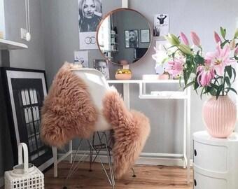 ON SALE Champagne Pink Sheepskin |  Sheepskin Rug | pale pink | Sheepskin | Nursery decoration | baby girl  Pale Pink Throw  | Rose Gold She