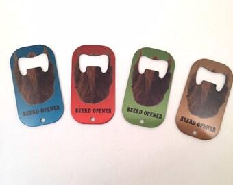 Bottle Opener, Beer, Beard, BeerD Opener, metal key ring