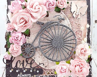 Shabby Chic Love Always Card for Valentine's Day / Wedding / Anniversary / Just Because Love