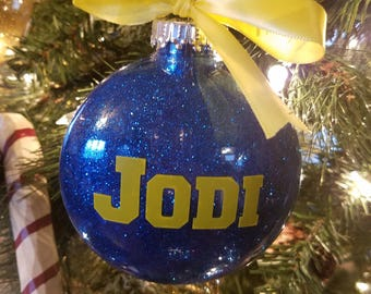 Personalized Ornament - Custom Ornament - Name Ornament - Customized Ornament - Sport's Player Gift - Sports Fan