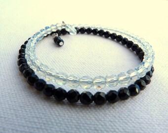 Natural stones bracelet - Black and white -