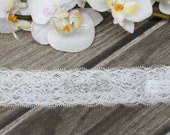"FAST Shipping!!!! Beautiful Wedding Garter with ""Bride"" lettering, Bridal Garter, Garter, Rhinestones Garter, Wedding Garter, Lace garter"