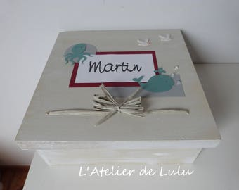 """Sea"" birthday box"