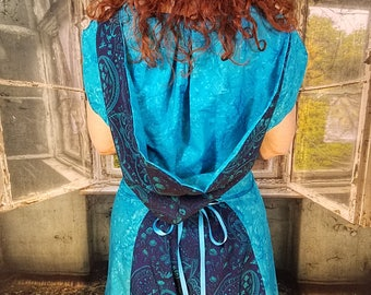 Teal Mix WhmZ * Plus Size * Pockets * Hood * Steampunk * Black * Cosplay * BLue