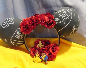 Beauty and the Beast Inspired Enchanted Rose Mouse Ears / Headband