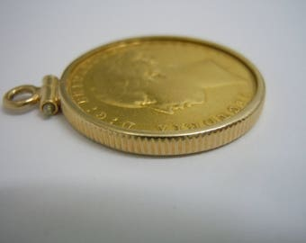 Sovereign pendant etsy rare 22kt gold 1874 s young head st george sydney australia mint gold sovereign aloadofball Images