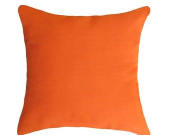 SALE Orange Outdoor Pillow Covers, Throw Pillows, Decorative Pillow, Lumbar pillow, Orange Outdoor Cushions 18x18, 20x20, 22x22, 24x24, 26x2