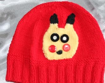 child hat, fantasy, pikatchou knitted hand