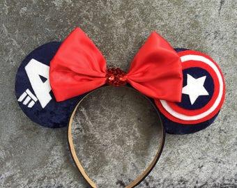 Captain America Inspired Mouse Ears