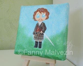 Jamie Fraser (Outlander) - Mini painting