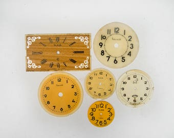 Vintage Clock Faces Vintage round Square Watch Faces Dials Clock Fronts Plastiс Pocket Watch Faces Steampunk