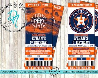 Houston Astros Invitation | Baseball Invitation