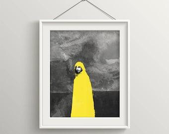 Blast, Black And White Art, Fantasy Art, post apocalyptic art, Black and Yellow, Dark Art, Spooky Art, Art Print, Dreams, Contemporary Art
