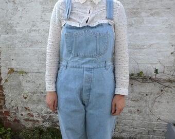 Salopette en jeans vintage année 80 / taille 42