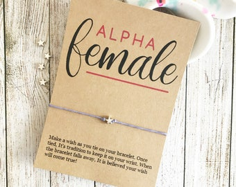 Feminist Bracelet, Feminist Jewelry, Best Friend Wish Bracelet, Empowering Jewelry, Women Empowering Women, Girl Boss Gift, Wish Bracelet