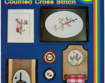 Cross Stitch Patterns – School House of Counted Cross Stitch Book 4 – Vintage Cross Stitch Pattern Book – CC-4